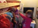 Matilda helping to sort.