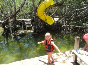 Arriving at the mangrove fort.