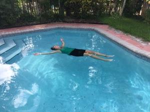 Post long run float.