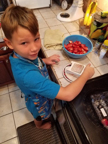 Ninja slicing skills.